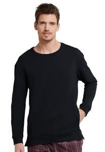 Schiesser Mix & Relax Sweat Shirt Nachtmode Zwart