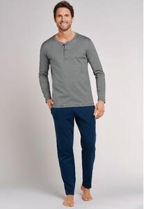 Schiesser Mix & Relax T-Shirt Knoopjes T-Shirt Antraciet