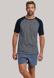 Schiesser Mix & Relax T-Shirt T-Shirt Dark Navy Melange