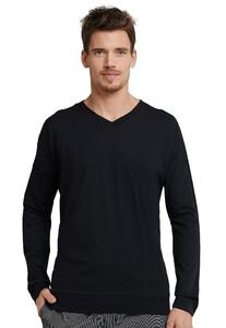 Schiesser Mix & Relax T-Shirt T-Shirt Zwart