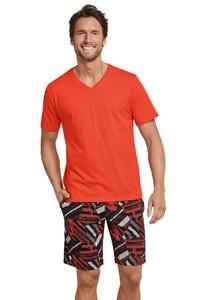 Schiesser Mix & Relax T-Shirt V-Hals T-Shirt Fine Orange