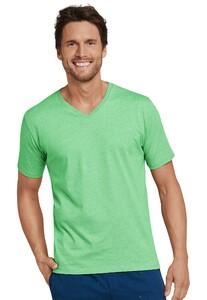 Schiesser Mix & Relax T-Shirt V-Hals T-Shirt Grasgroen