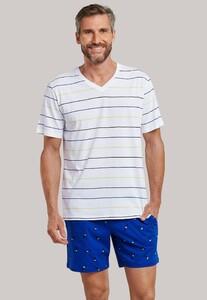 Schiesser Mix & Relax T-Shirt V-Neck T-Shirt Multicolor