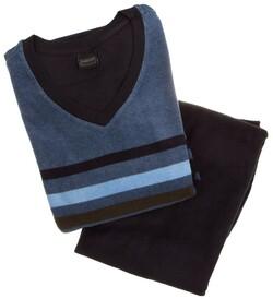 Schiesser Multi Stripe Nachtmode Blauw