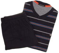 Schiesser Multi Stripe Nightwear Dark Evening Blue