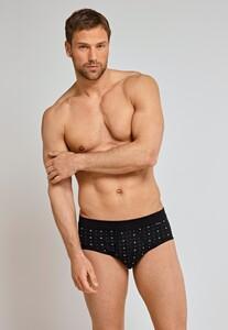 Schiesser Original Classics Feinripp Sports Brief Underwear Black