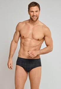 Schiesser Original Classics Feinripp Sports Brief Underwear Graphite Grey