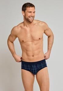Schiesser Original Classics Feinripp Sports Brief Underwear Navy