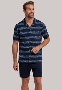 Schiesser Original Classics Pyjama Nachtmode Donker Blauw