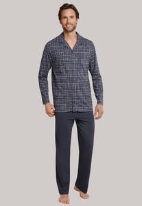 Schiesser Ruit Pyjama Ebony Nightwear Anthracite Grey