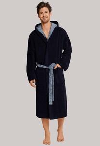 Schiesser Selected! Premium Badjas Nachtmode Donker Blauw