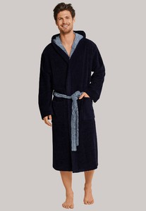 Schiesser Selected! Premium Badjas Nightwear Dark Evening Blue