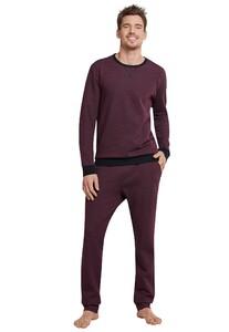 Schiesser Selected! Premium Pyjama Nachtmode Donker Rood