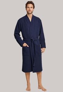 Schiesser Selected! Premium Uni Badjas Nachtmode Donker Blauw