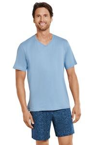 Schiesser Sportsclub Pajamas Nightwear Light Blue