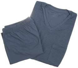 Schiesser Super Soft Stripes Nachtmode Midden Blauw