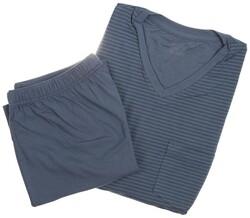 Schiesser Super Soft Stripes Nightwear Mid Blue