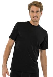 Schiesser T-Shirt 2 Pack T-Shirt Zwart