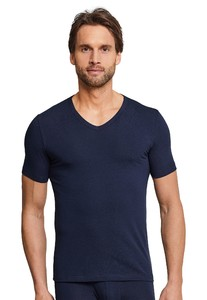 Schiesser Urban Original Shirt V-Neck Underwear Dark Evening Blue