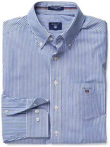Gant Popeline Striped Fitted Banker Shirt Navy