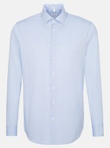 Seidensticker Business Kent Faux Uni Overhemd Licht Blauw