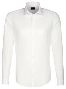 Seidensticker Business Kent Uni Overhemd Beige