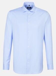 Seidensticker Business Uni Herringbone Overhemd Aqua Blue
