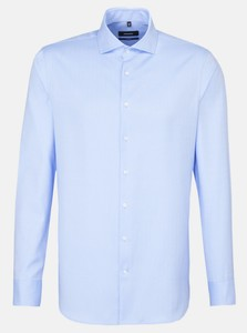 Seidensticker Business Uni Herringbone Shirt Aqua Blue