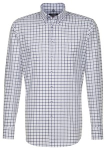 Seidensticker Button Down Business Check Shirt Burnt Brick