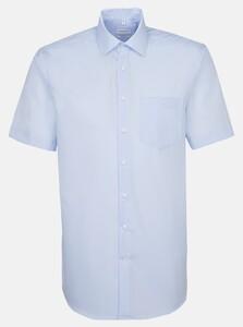 Seidensticker Chambray Basic Overhemd Aqua Blue