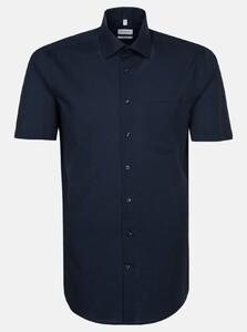 Seidensticker Chambray Basic Overhemd Navy
