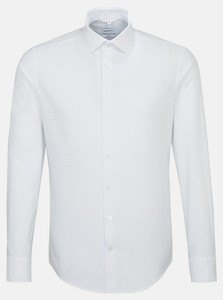 Seidensticker Dotted Oxford Light Kent Overhemd Donker Blauw Melange
