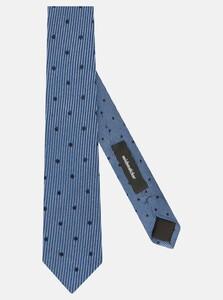 Seidensticker Dotted Stripe Tie Das Intens Blauw