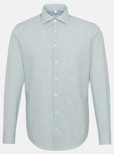 Seidensticker Duo Check Spread Kent Overhemd Groen
