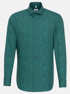 Seidensticker Fantasy Floral Shirt Green