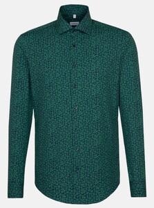Seidensticker Fantasy Leaf Pattern Overhemd Groen