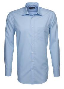 Seidensticker Fil à Fil Basic Overhemd Licht Blauw