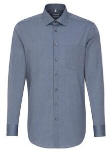 Seidensticker Fil à Fil Basic Shirt Deep Intense Blue