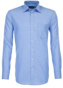 Seidensticker Fil à Fil Basic Shirt Mid Blue