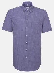 Seidensticker Fine Check Poplin Shirt Lilac