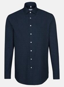 Seidensticker Fine Contrast Light Kent Shirt Navy