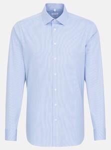 Seidensticker Fine Striped Light Business Kent Overhemd Intens Blauw