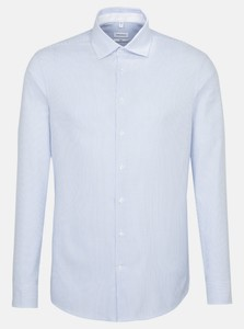 Seidensticker Fine Striped Oxford Overhemd Intens Blauw