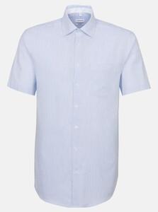 Seidensticker Fine Striped Oxford Shirt Deep Intense Blue