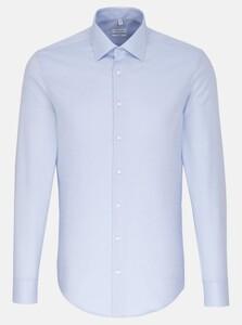 Seidensticker Fine Structure Business Kent Overhemd Blauw