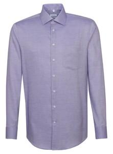 Seidensticker Fine Structure Faux Uni Shirt Lilac
