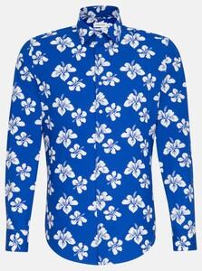 Seidensticker Floral Fantasy Poplin Shirt Sky Blue Melange