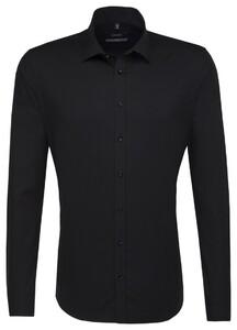 Seidensticker Kent Faux-Uni Shirt Black