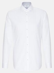 Seidensticker Light Spread Kent Twill Overhemd Wit