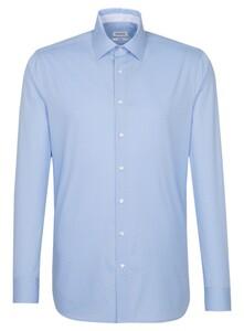 Seidensticker Micro Dot Contrast Overhemd Blauw